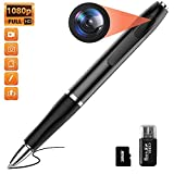 Spy Camera Mini Hidden Camera Pen HD 1080P Video Recorder, Spy Gear Body Camera Portable Pocket Camera with 32GB SD Card for Business Conference and Security