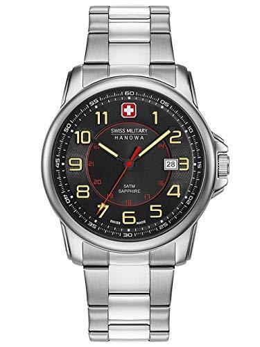 Swiss Military Hanowa Unisex Erwachsene Analog Quarz Uhr mit Edelstahl Armband 06-5330.04.007