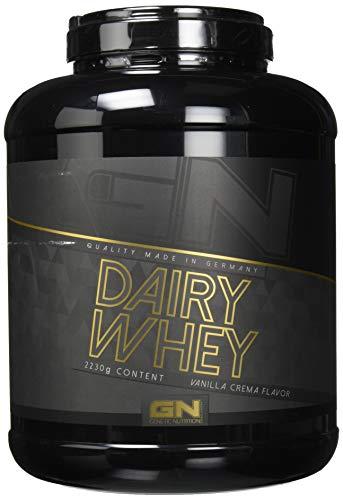 GN Laboratories 100% Dairy Whey Proteinshake Protein Eiweiß Bodybuilding Eiweißpulver (2230g Vanilla Crema - Vanille)