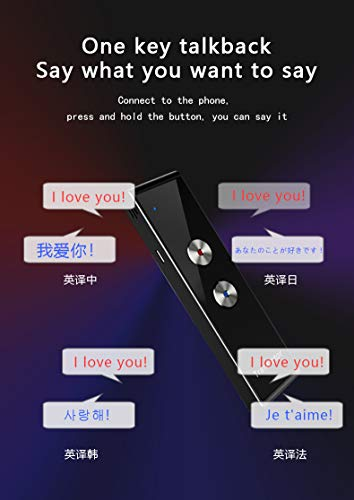 Language Translator Device Smart Two Way Voice Translator Bluetooth Support 44 Languages for Travelling Abroad Learning Shopping Business Chat Recording Translations Photo #4