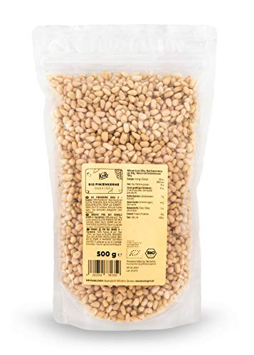 KoRo - Bio Pinienkerne 500 g - Cremig weiche Kerne ohne Konservierungsstoffe aus biologischem Anbau