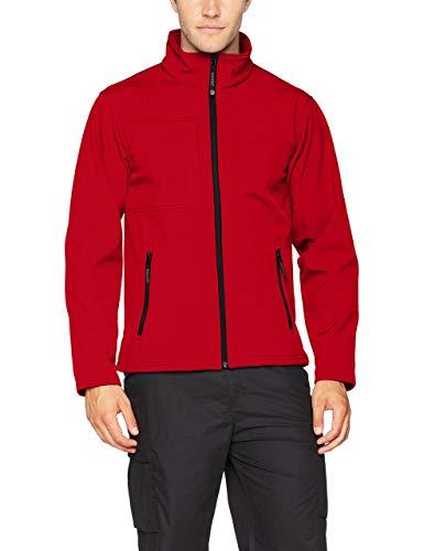 Regatta TRA688 51P80 Herren Octagon Ii 3-Lagen-Membran Softshell-Jacke, X-Large, Rot (klassisches Rot/Schwarz)