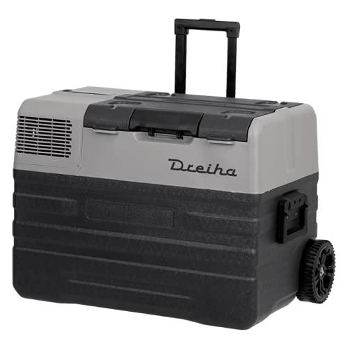Dreiha CBX42-BR Frigo Portatile con Compressore LG, CoolingBox 42-BR con una capacità di raffreddamento da +20°C a -20°C, Connessioni 12V / 24V 0 110V / 220V per Auto, Camion, Barca e Camper