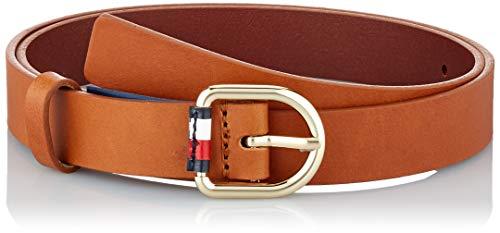 Tommy Hilfiger Damen Corporate Belt 2.5 Gürtel, Braun (Cognac Gb8), Small (Herstellergröße: 85)