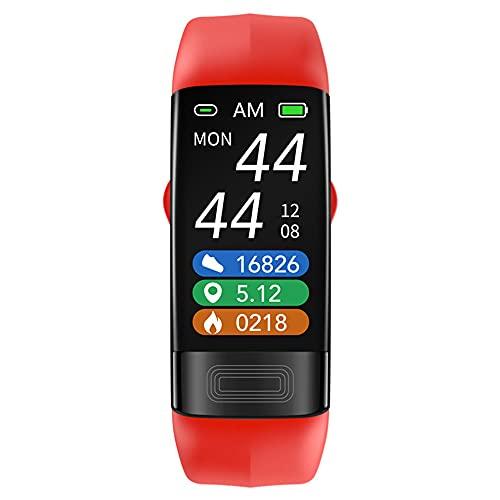 LVYE1 MRMF Pulsera Inteligente, Toma La Temperatura Corporal ECG Oxigeno En Sangre Presión Sanguínea Dormir Impermeable Movimiento Podómetro Salud Reloj Deportivo,D