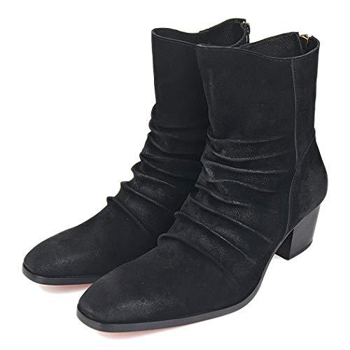 Malpyq Oxford-schoenen van leer, klassieke rode onderbroeken voor volwassenen, Mid-Tube-Cowboylaarzen en gelijmde zolen