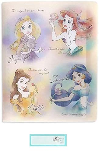 ディズニー ルーズリーフ バインダー B5 8穴 ファイル ケース プリンセス 当店オリジナルロゴ入り名前シール 2点セット(ルーズリーフ、名前シール)