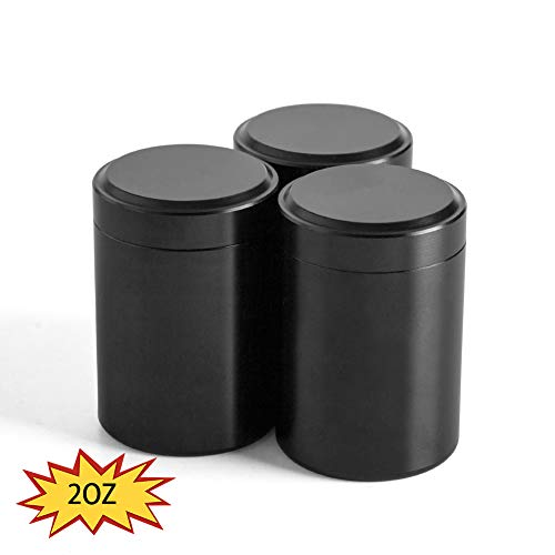 Waterproof Aluminum Screw-top Lid Lock Odor Tea Tins, Airtight Smell Proof Durable Multi-Use Portable Metal Herb Jar Container