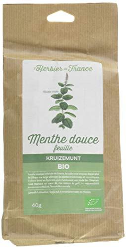 L'Herbier de France Menthe Douce Feuilles Bio Sachet Kraft 40 g