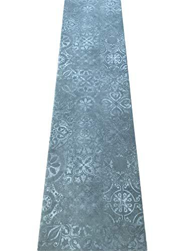 LaVelaHOME Tappeto Cucina a metraggio PVC Largo 50 cm marmette cementine azulejo (Lavagna Design)