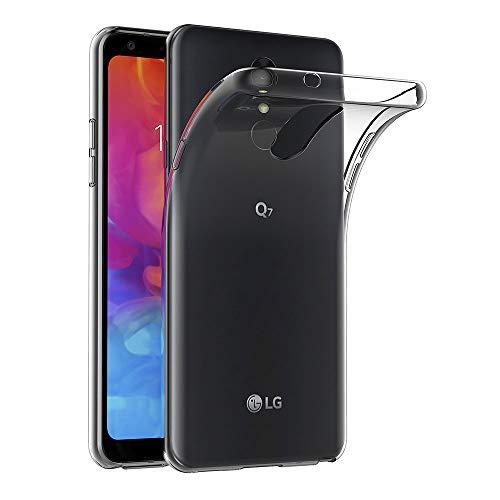AICEK Hülle Compatible für LG Q7 Transparent Silikon Schutzhülle für LG Q7 Hülle Clear Durchsichtige TPU Bumper LG Q7 Handyhülle (5,5 Zoll)