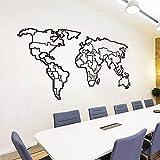 Zdklfm69 Adhesivos Pared Pegatinas de Pared Gran Mapa del Mundo, Oficina, Aula, Estudio, Mapa del Mundo, Globo terráqueo, Dormitorio, Vinilo, decoración del hogar 105x56cm
