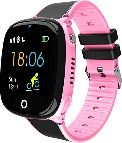 Redcolourful HW11 reloj inteligente niños bl/uetoo/th podómetro IP67 impermeable reloj para niños seguro pulsera inteligente Android IOS rosa