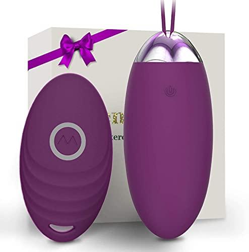 Massaggiatore Wireless 15M con Telecomando, 10 Modalità di Frequenza, Ricarica USB, Silicone Morbido e Impermeabile