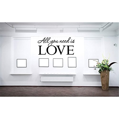 Vinilo extraíble pared pegatinas Mural Decal Soul cita All You Need is Love Home Decor