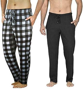 FASHION REVIEW Gimbles® Pack of 2 Men's Lounge Bottoms Pyjama Pants Jersey PJ 100% Cotton Check Trousers