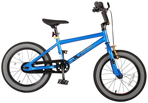 Bici Bicicletta Bambino 16 Pollici Cool Rider Freno Anteriore sul Manubrio e Posteriore Contropedale Blu 95% assemblata