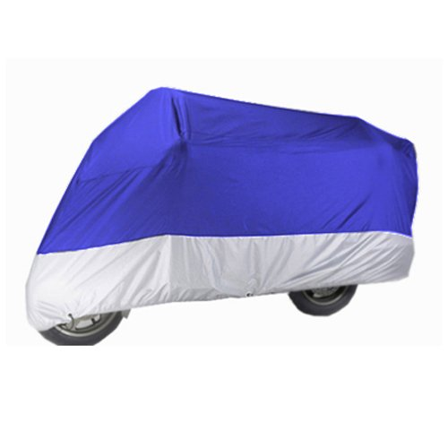 Motorcycle Cover For Kawasaki KLV 1000 / Blue Sliver Motorcycle Cover L