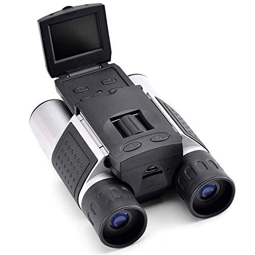 Prismáticos con cámara digital, pantalla HD, grabación de fotos y vídeos – 10 aumentos
