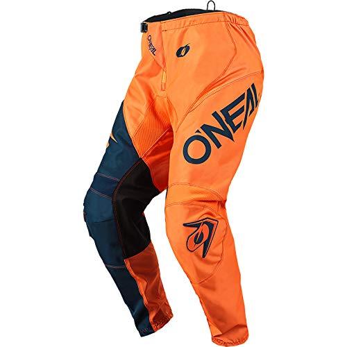 O'NEAL | Motocross-Hose | Enduro MX | Maximale Bewegungsfreiheit, Leichtes, Atmungsaktives und langlebiges Design | Pants Element Racewear | Erwachsene | Orange Blau | 34/50