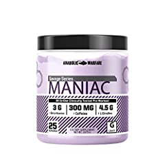 Pre Workout Powder: Maniac is a pre workout drink mix is packed with 14 of the best raw ingredients on the planet to help enhance performance, pumps, strength, focus, thermogenesis, energy and hypertrophy while training. Gain Strength: Maniac pre wor...