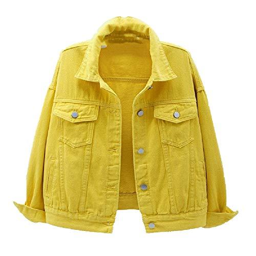 Chaqueta vaquera para mujer primavera y otoño abrigo corto chaqueta denim casual top suelto