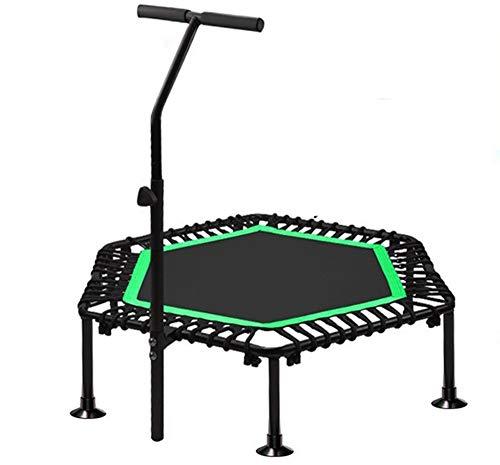 CKR Rebounder Plegable Cubierta Mini trampolín Ejercicio Mejor Gimnasio en casa para Mantenerse en Forma y Peso Perder, LÍNEA Impresionante y DVD Entrenamientos,Verde