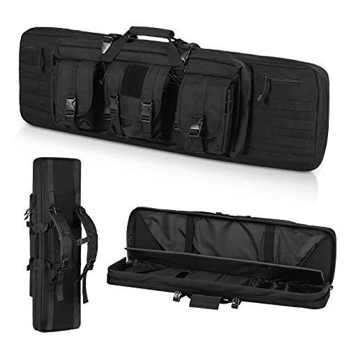 """ORHFS Double Long Soft Rifle Case, American Classic Durable Tactical Carbine Rifle Bag & Multi-Function Gun Bag, Fit for Rifle and Pistol Storage or Transportation,Available Length in 42"""""""