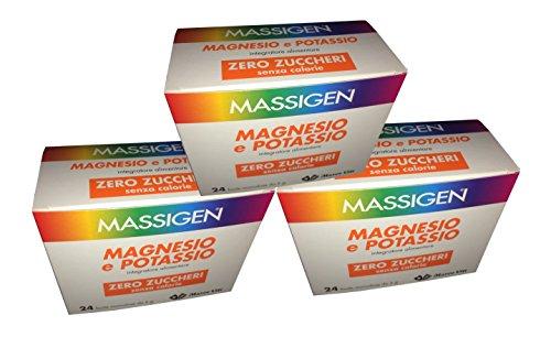 3 X Massigen Magnesio e Potassio Zero Zuccheri 24 Buste