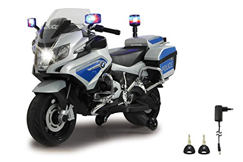 Jamara 460335 - Ride-on Motocicleta BMW R1200 RT-Police 12V - Sirena, Motor potente