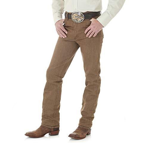 Wrangler Herren Jeans Cowboy-Schnitt Slim Fit - Braun - 38W / 34L