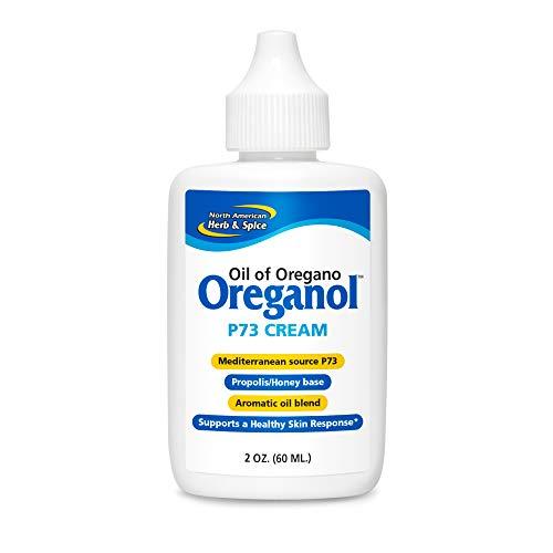North American Herb & Spice Oreganol P73 Cream - 2 oz. - Potent, Natural Moisturizer - Oreganol P73 Oregano Oil, Honey, Propolis, Royal Jelly, Oil of Hypercium, Lavender, Extra Virgin Olive Oil