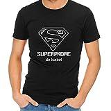 Camiseta Personalizada 'Superpadre' Negra en Todas Las Tallas - Regalo para el Día del Padre, Navidad o su cumpleaños