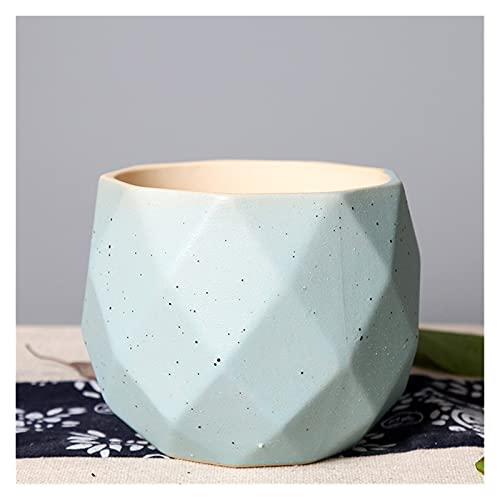 yywl Maceteros Maceta de Carne múltiple Pequeña Fresca Simple de cerámica de cerámica de cerámica Péndulo Péndulo con Orificios para Plantas (Farbe : Blue)