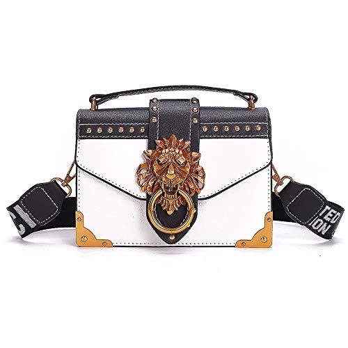 Bestmaple Bandolera de cuero de lujo de las mujeres bolsos bolso de hombro - blanco - Talla única