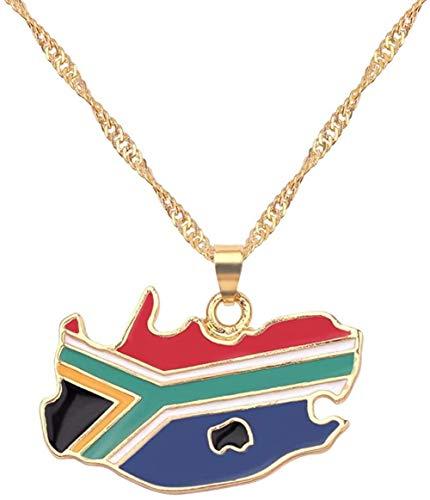 ZVBEP Collar Hecho a Mano con Bandera de Mapa del país, Collar con Colgante para Mujer, joyería para Hombre