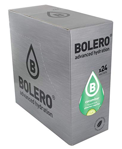 Bolero Bebida Instantánea Sin Azúcar, Sabor Pepino - Paquete de 24 x 9 gramos - Total 216 gramos
