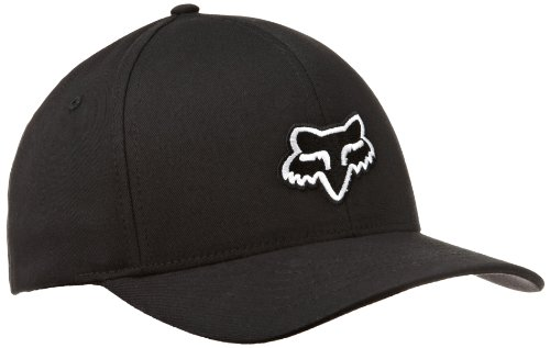 FOX Men's Legacy Flexfit HAT, Black, Small/Medium