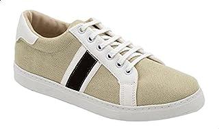 Roadwalker Canvas Color-Block Round Toe Lace-Up Shoes for Men