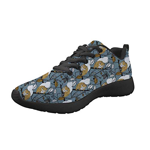 Upetstory Running Shoes Womens Breathable Sneaker for Walking Jogging Sports Athletics Shoes Best for Girls Gift Squirrel 8.5