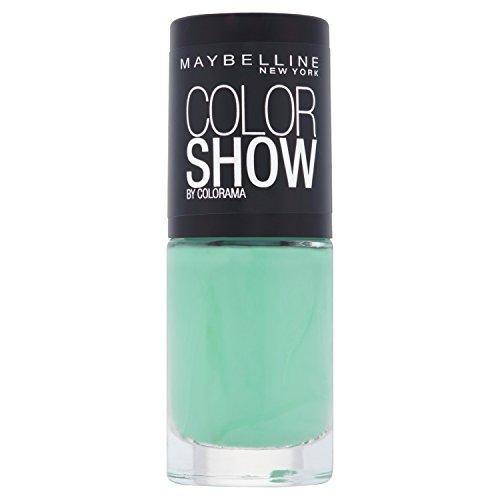 Maybelline ColorShow Nagellack, Nr. 214 green With Envy, bringt die Laufsteg-Trends aus New York auf die Nägel, in sattem hellgrün, 7 ml