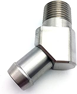 JSD 1041 Stainless Steel 45 Degree Heater Hose Fitting 1/2