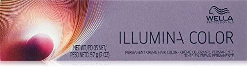 Wella Illumina Permanent Creme Hair Color, 5/81 Light Brown/Pearl Ash, 2 Ounce