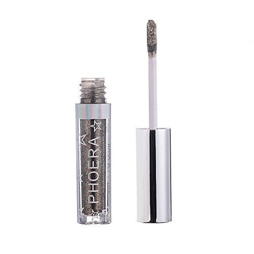 Glitter Lidschatten Eyeliner/BRISEZZ Eyeshadow Kupfer glitzerndes Finish, leuchtende Farben,...