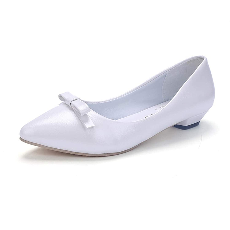 [Florai-JP] レディース パンプス リボン 可愛い 歩きやすい 結婚式 ローヒール オフィス 通勤 オシャレ 春 夏 美脚 身長UP 安定感 快適 婦人靴 フォーマル 痛くない リクルート 軽い 白 黒 ピンク