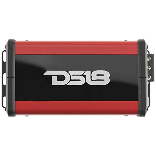 DS18 Atom4 Super Micro Nano 4- Channel Class D Amplifier 800 Watts Max, Don't Sacrifice Space for Power - Compact Mini Ampflier for Speakers in Car Audio System
