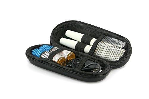 Aufbewahrungs-Etui Ego für E-Zigaretten und E-Shishas ideal als Tasche Hülle Bag Case zum Schutz oder für Liquids und Zubehör Schwarz klein