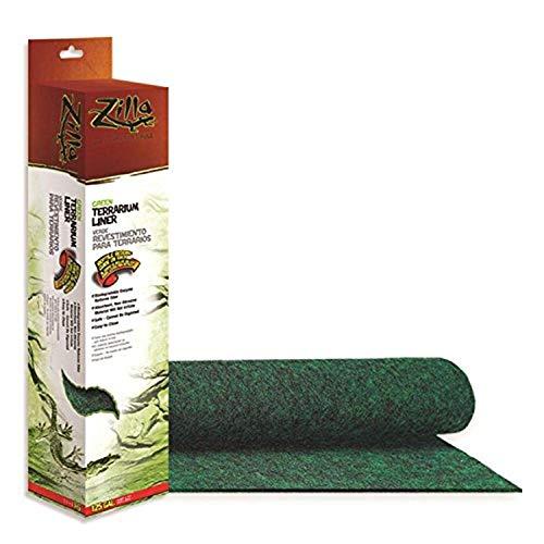Zilla Reptile Terrarium Bedding Substrate Liner, Green, 125G
