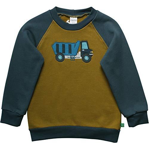 Fred's World by Green Cotton Jungen Crane Sweat Shirt Sweatshirt, Grün (Dark Olive 018083206), (Herstellergröße:128)