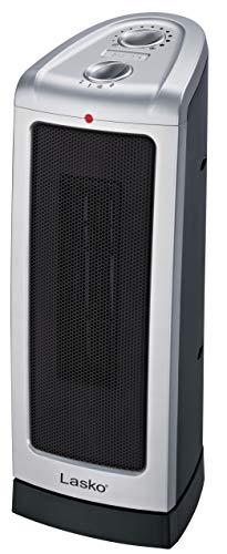 Lasko 5307Torre calefactora de cerámica oscilante, 40.6cm, 5307, Plateado, 40.64 cm, 1